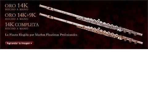 Flauta MURAMATSU modelo 14K-SR-RBEO llaves en 14K