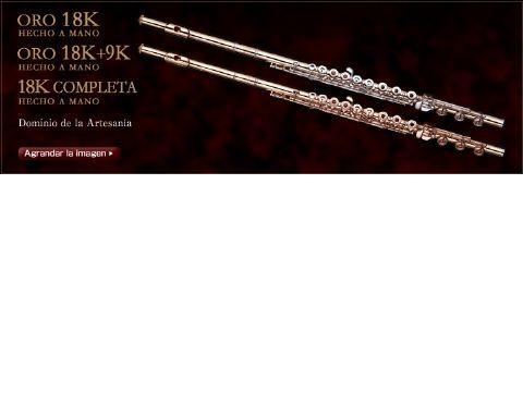 Flauta MURAMATSU modelo 18K-SR-RBEO llaves en 14K