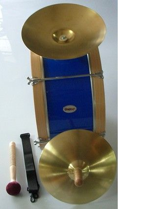 Bombo charanga 45,5 x 25 cm con platos HONSUY modelo 20767