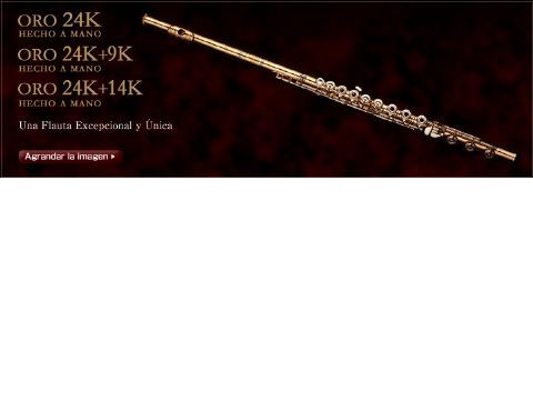 Flauta MURAMATSU modelo 24K-RBEO llaves en 14K