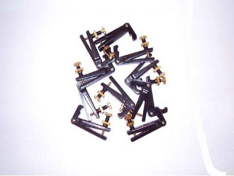 Afinador viola negro tornillo dorado modelo 911064