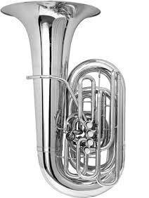Tuba en Do BESSON modelo BE995-2-0 SOVEREIGN plateada