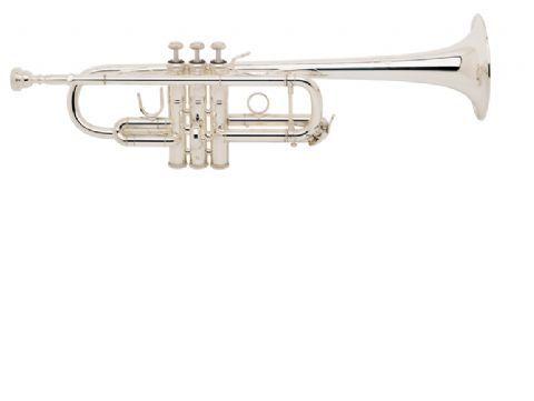 Trompeta Do BACH modelo C180L o ML campana 239 tudel standard PLATEADA