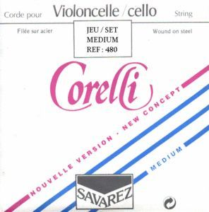 Juego cuerdas violonchelo CORELLI modelo 480