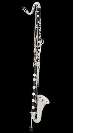 Clarinete bajo SELMER modelo PRIVILEGE bajando al Do grave.