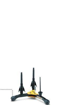 Soporte 2 clarinetes HERCULES modelo DS-543-B