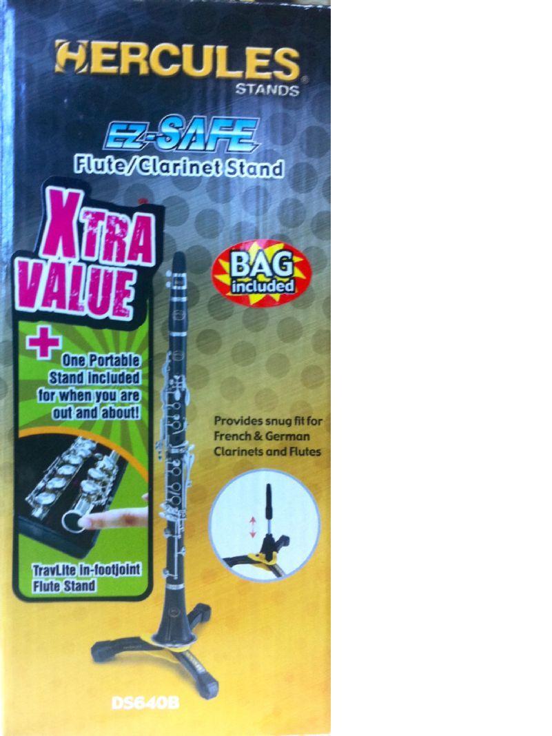 Pack de dos soportes de flauta HERCULES modelo DS-640-T4