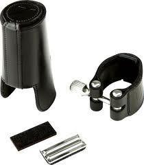 Abrazadera de cuero con boquillero de cuero para clarinete alto o bajo VANDOREN