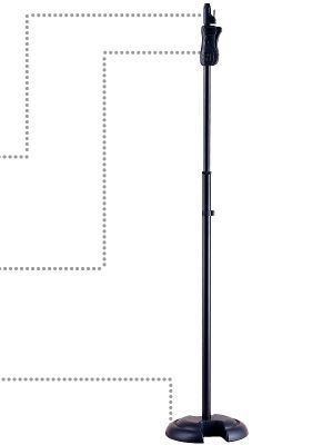 Pie de microfono recto HERCULES modelo MS-201-B