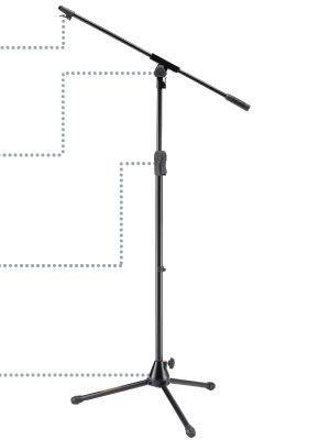 Pie de microfono jirafa HERCULES modelo MS-532-B