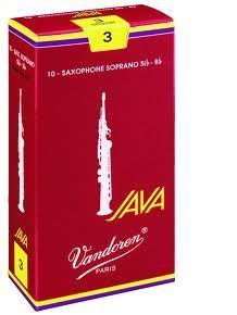 Caja de cañas saxofón soprano VANDOREN modelo JAVA ROJA