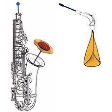Kit limpieza saxofon alto, tenor REKA