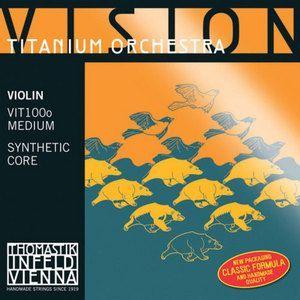 Juego cuerdas violin VISION TITANIUM ORCHESTRA modelo VIT100O