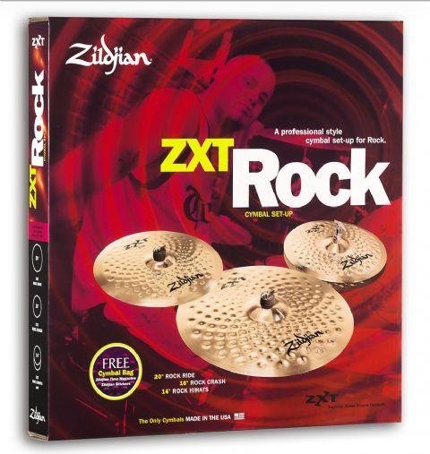 Juego de platos ZILDJIAN modelo ZXT ROCK